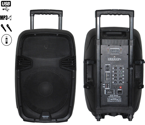DECCON DCK 202BR มีบูลทูธ Portable Amplifier With Speaker