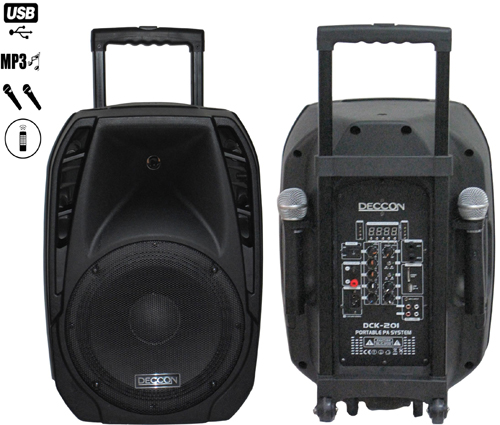 DECCON DCK 201BR มีบูลทูธ Portable Amplifier With Speaker
